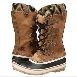 SOREL JOAN OF ARCTIC KNIT II ELK BROWN SNOW Boots